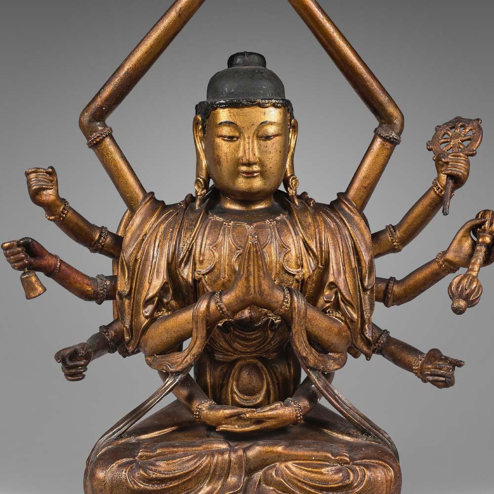 A twelve–armed Avalokiteshvara figure - 2