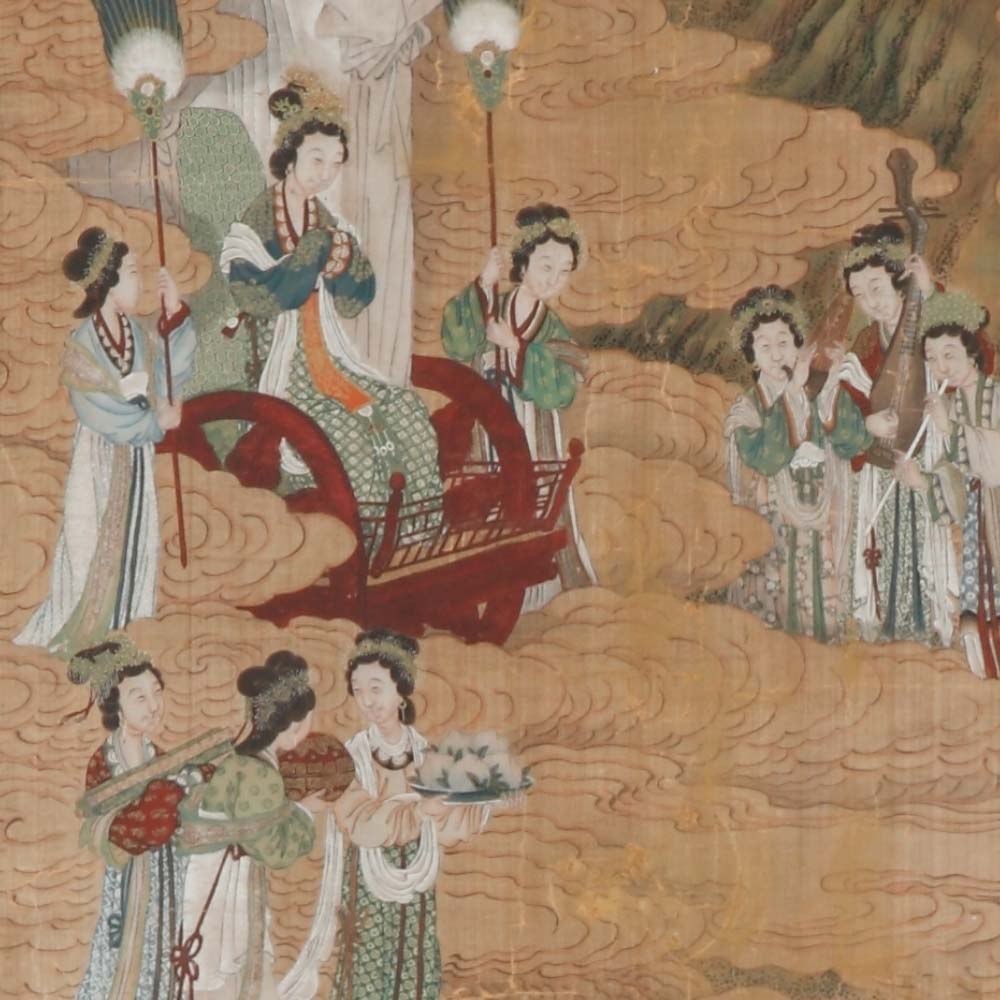 A pair of paintings depicting episodes from the life of emperor Wu of the Han - 2