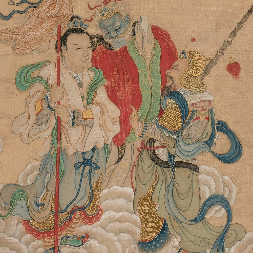 A pair of paintings depicting Daoist deities - 2