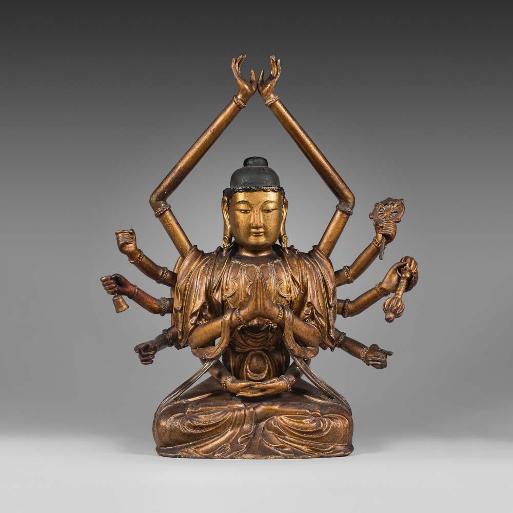 A twelve–armed Avalokiteshvara figure - 1