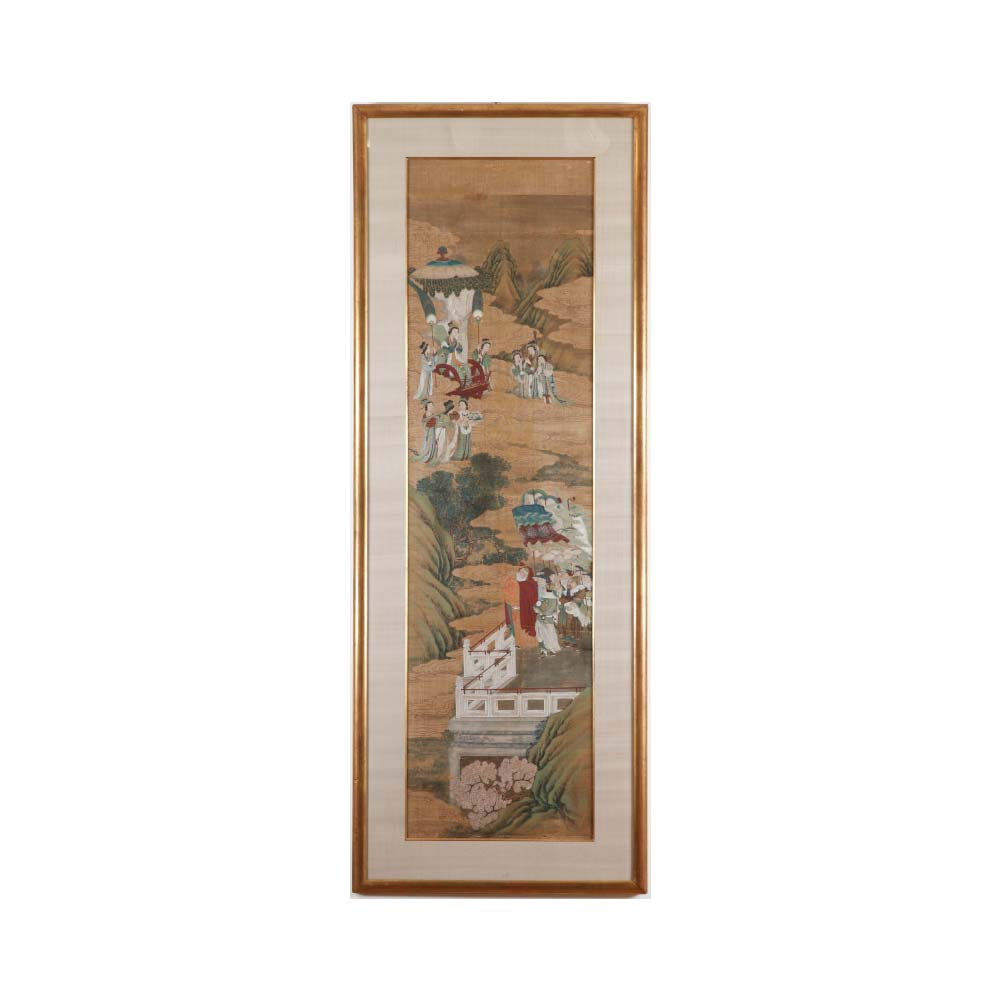 A pair of paintings depicting episodes from the life of emperor Wu of the Han - 1