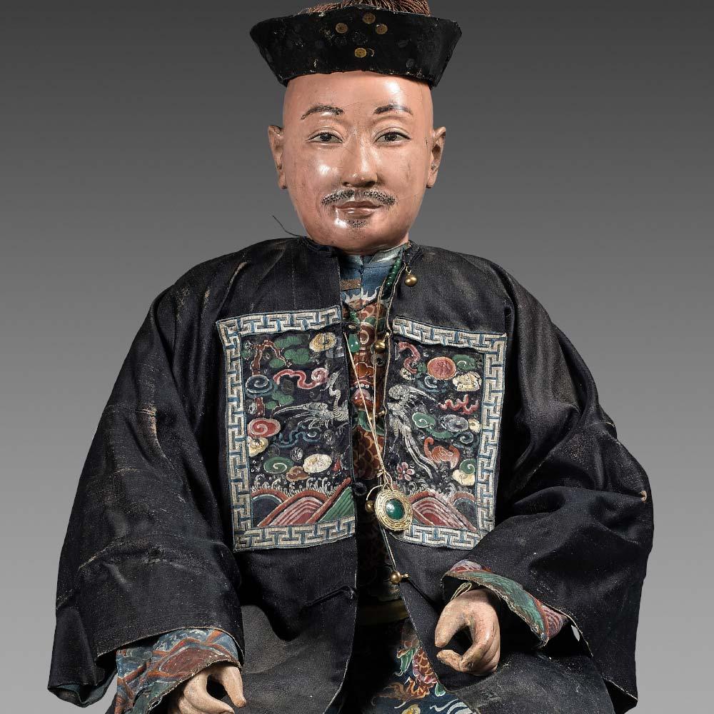 A rare figure of a Hong merchant - 2