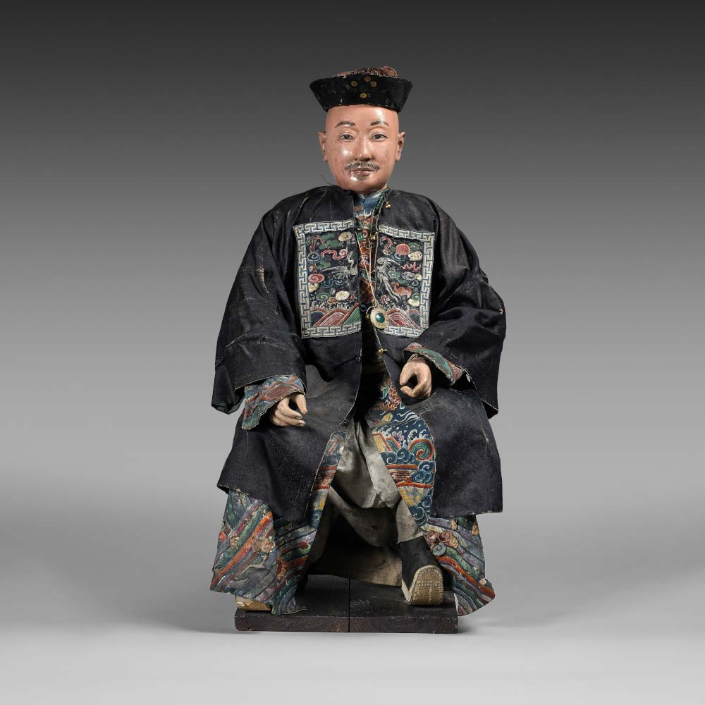 A rare figure of a Hong merchant - 1